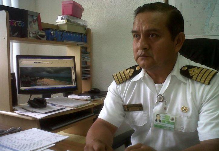 José Florentino Gallardo, capitán de Puerto. (Adrián Barreto/SIPSE)