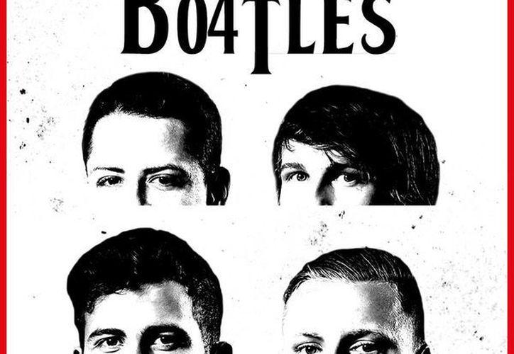 Javier Hernández, Tin Jedevaj, Bernd Leno y Julian Brandt son los cuatro Beatles del Bayer Levekusen. (Facebook)