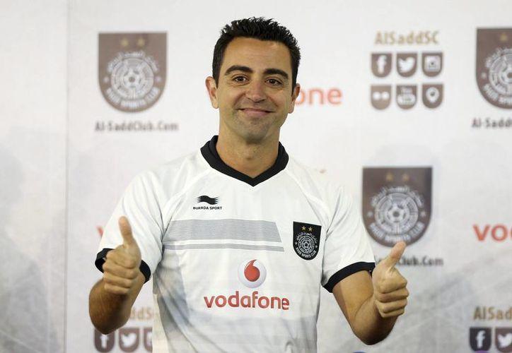Xavi marcó su primer gol con el club Al Sadd, en Emiratos Arabes Unidos. (EFE)