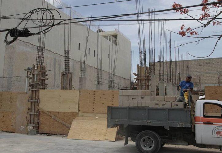 Lo que impulsó a la entidad fue la construcción principalmente. (Israel Leal/SIPSE)
