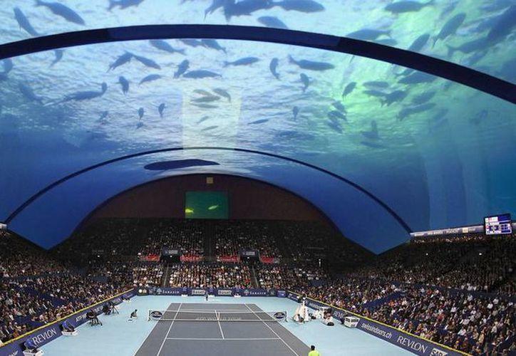 El proyecto de una cancha de tenis submarina, para 10 mil espectadores, se haría realidad en Dubai. (AP)