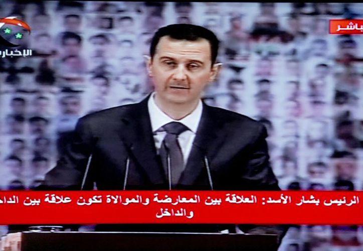 Las autoridades cortaron internet en todo el país durante el discurso del presidente de Siria, Basar Al Asad. (EFE)