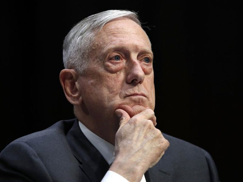 Defense Secretary Jim Mattis listens to a question during a hearing on Capitol Hill in Washington. (AP)