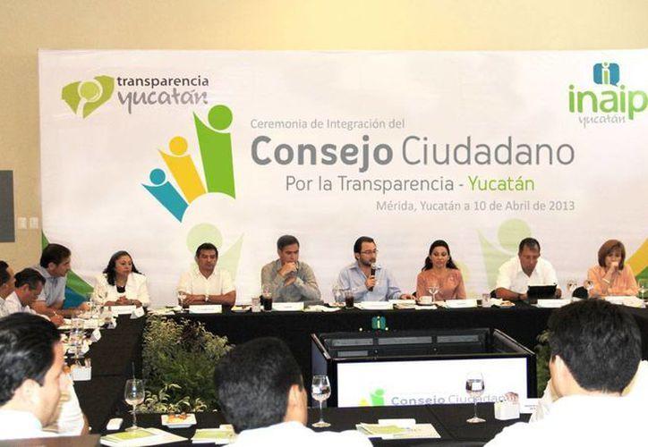 El Consejo Ciudadano del INAIP está conformado por presidentes de cámaras empresariales, colegios de profesionales y rectores de universidades. (Cortesía)