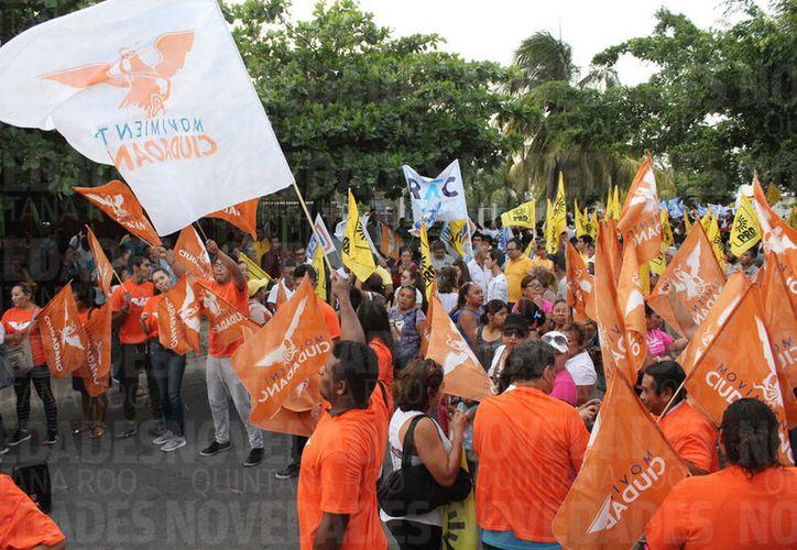 La coalición Por Quintana Roo al Frente, integrada por los Partidos Acción Nacional (PAN), de la Revolución Democrática (PRD) y Movimiento Ciudadano (MC), es la que recibió más dinero. (Joel Zamora/SIPSE)