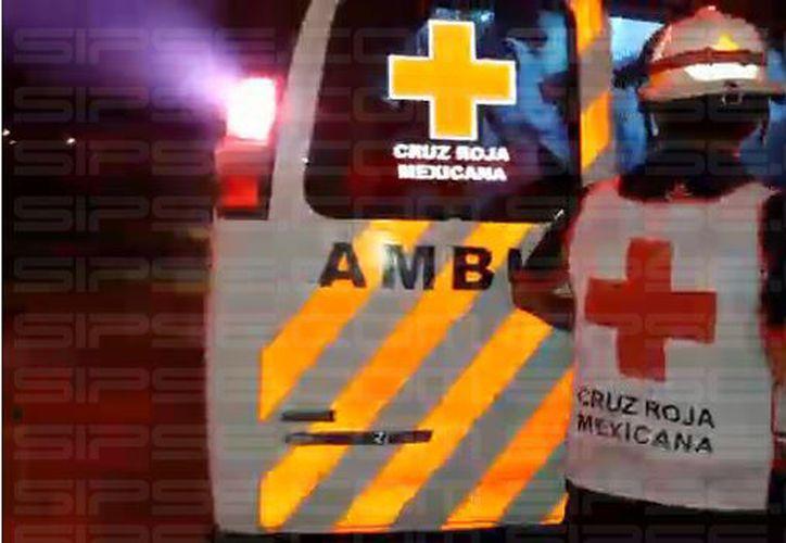Los lesionados fueron trasladados al Hospital General de Cancún. (Foto: Contexto/SIPSE)