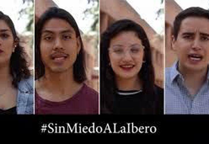 Alumnos de la Ibero piden diálogo no confrontación. (Foto: Twitter)