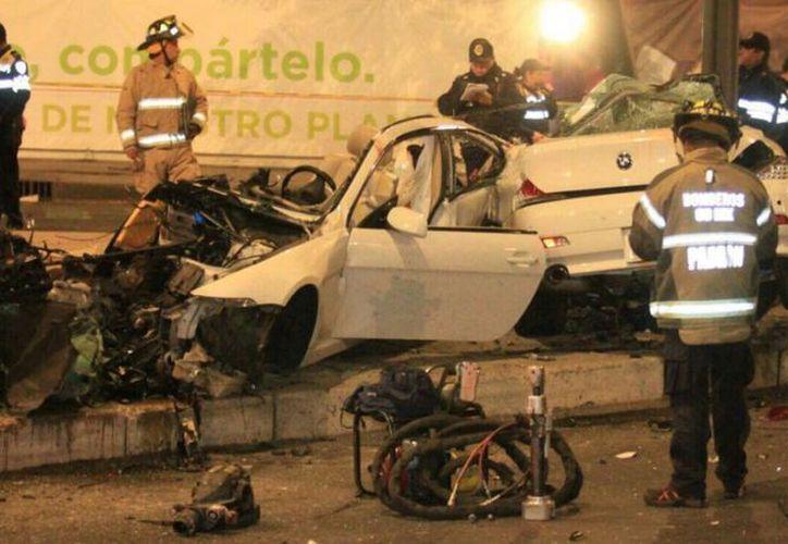 El accidente ocurrió la semana pasada en Paseo de la Reforma. (Televisa)
