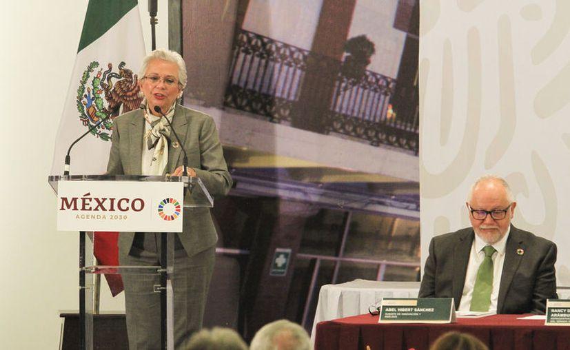 Olga Sánchez Cordero, encargada de la política interna del país. (Notimex)