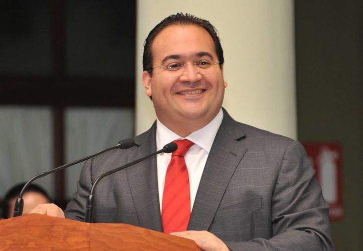 El gobernador de Veracruz, Javier Duarte, ofreció una conferencia de prensa tras el informe de la ASF. Imagen de contexto. (noticiasveracruz.com)