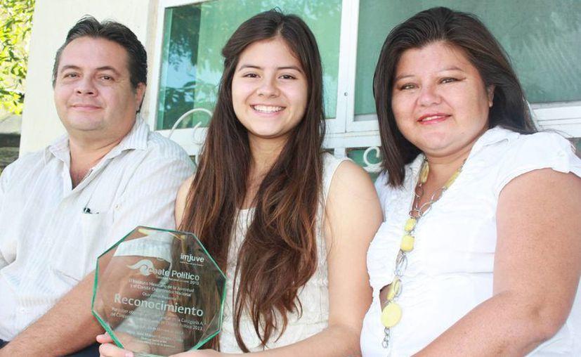 La joven es la primera mujer en el país en ganar este reconocimiento. ( Adrián Barreto/SIPSE)