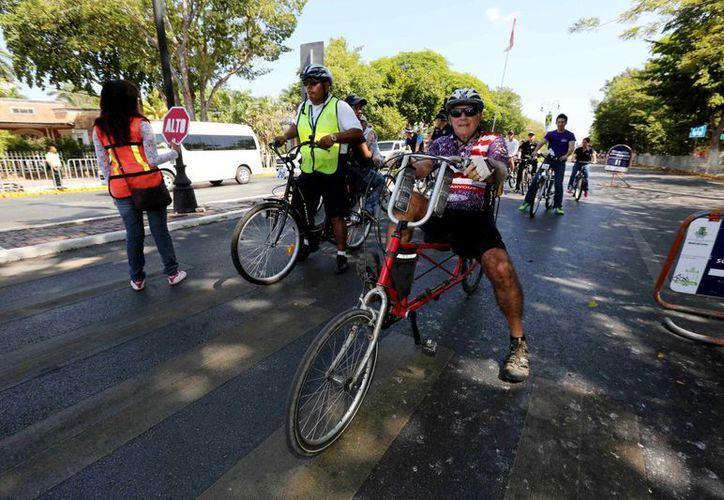 La Bici-Ruta de Mérida se sumó a los festejos del Día del Niño. (SIPSE)