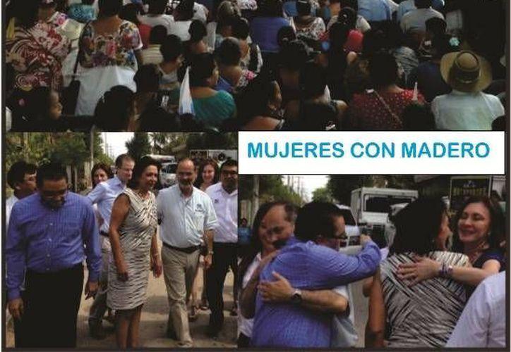 La diputada Sofía Castro considera que ha sido excelente la respuesta de las mujeres panistas a la campaña de Gustavo Madero. (SIPSE)