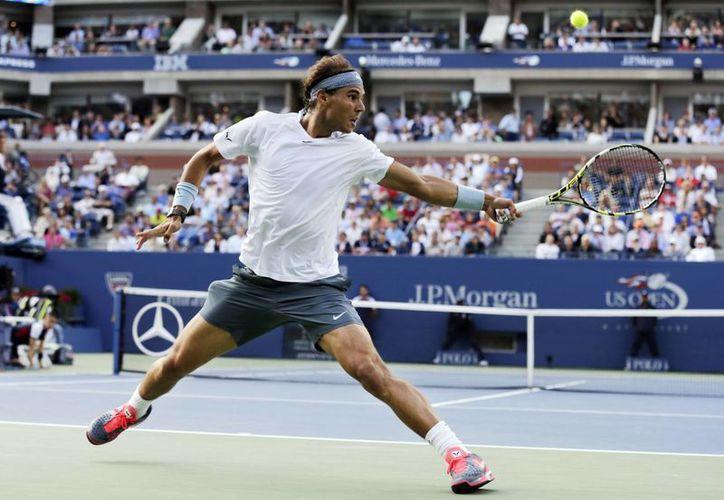 Nadal durante las semifinales del Abierto de Estados Unidos del año pasado, en donde derrotó a Richard Gasquet. (Foto de archivo de AP)