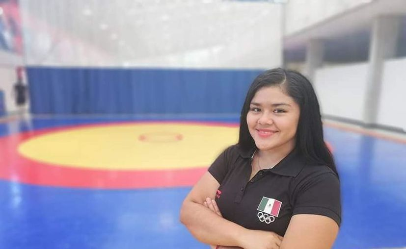 Fátima Crisanto Ayil, multicampeona nacional de Luchas Asociadas, es oriunda de Calderitas. (Facebook)
