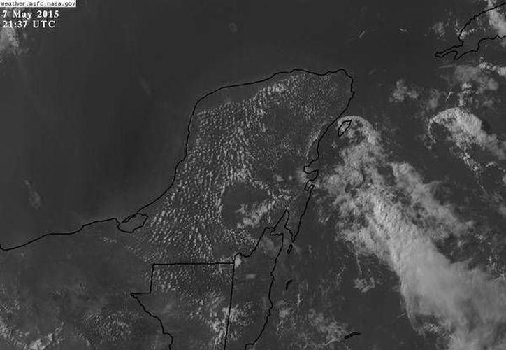 Las condiciones meterológicas en la Península de Yucatán. (Conagua)