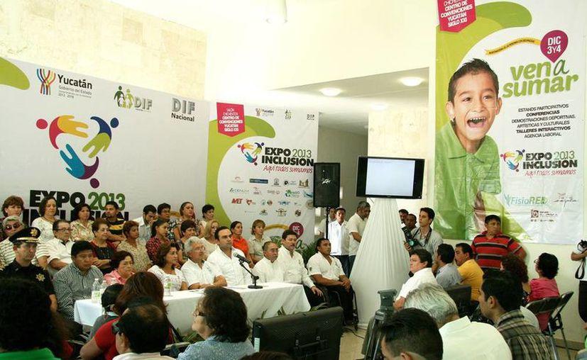 Las actividades se dieron a conocer en el Centro Paralímpico. (Wilberth Argüelles/Milenio Novedades)