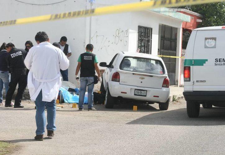 La muerte del motociclista ocurró en calles de la colonia Bojórquez, al poniente de la ciudad. (SIPSE)