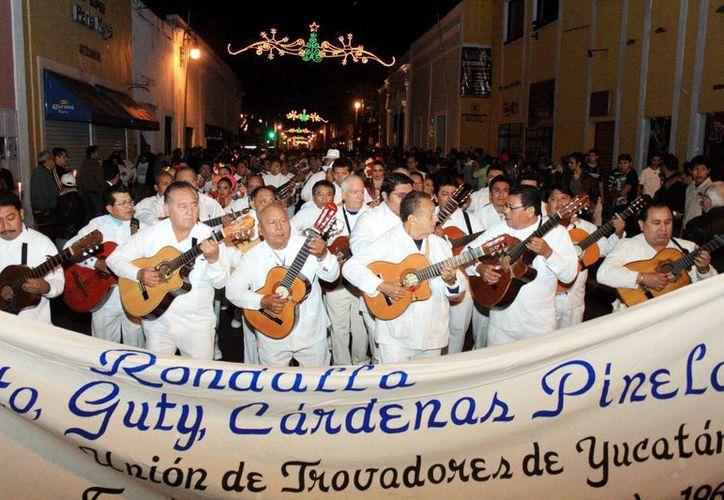 Los trovadores son una figura emblemática en las calles de Mérida. (SIPSE)