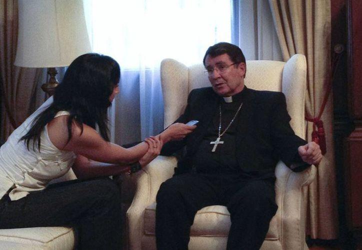 El nuncio Christophe Pierre dijo durante la entrevista que no teme a su futuro como diplomático. (Notimex)