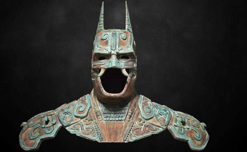 El busto hecho por Christian Pacheco para la exposición del 75 aniversario de Batman. Es el único basado en Camazotz. (Foto: redes sociales)