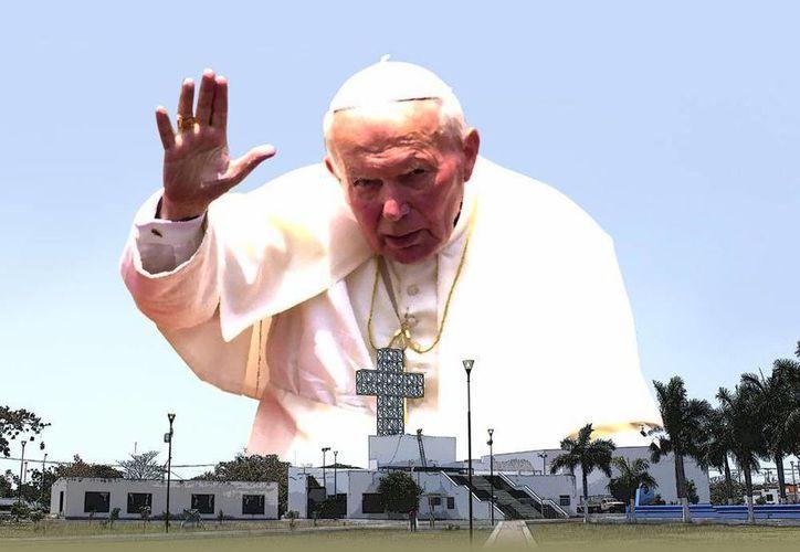 Juan Pablo II dejó honda huella en Yucatán. La imagen es de la iglesia que se construyó en la explanada donde ofició una misa en Mérida. Ahora esa zona es conocida como el fraccionamiento Juan Pablo II. (SIPSE/Archivo)