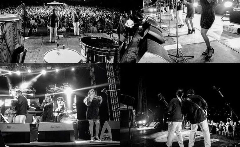 """La apertura del baile estuvo a cargo del dueto """"Elidian"""", integrado por los hijos del director musical de la banda de Iztapalapa. (Foto: Facebook @angelesazulesmx)"""
