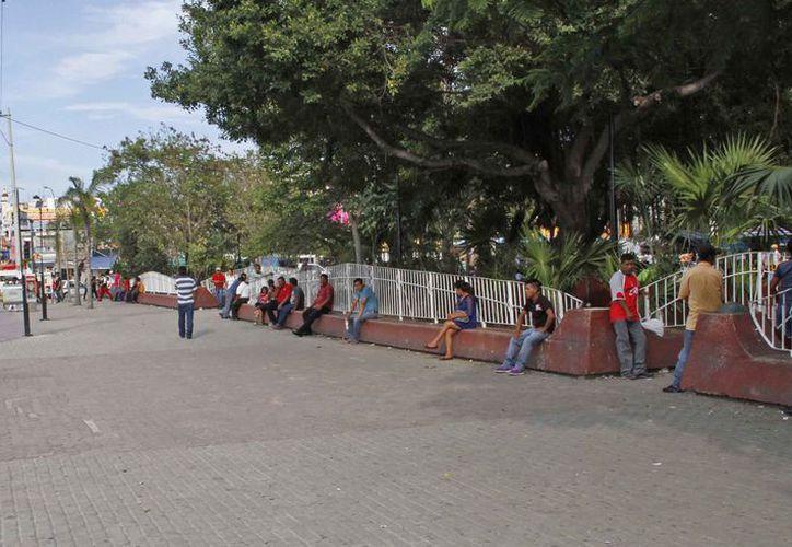 Recomiendan a las personas que acuden al parque esconder sus teléfonos. (Eric Galindo/SIPSE)