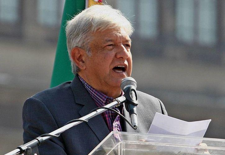 El pasado 1 de diciembre, López Obrador encabezó un mitin con sus seguidores en el Zócalo de Ciudad de México. (EFE)