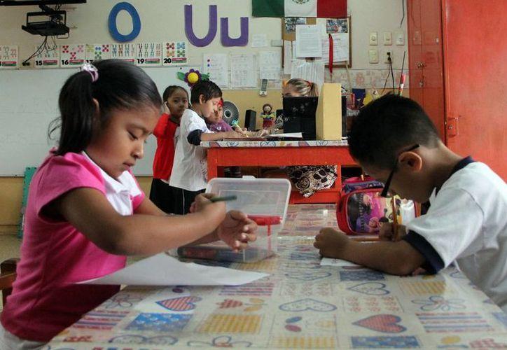 Los infantes que cursan la primaria regresarán a clases con las reformas educativas ya aprobadas. (SIPSE)