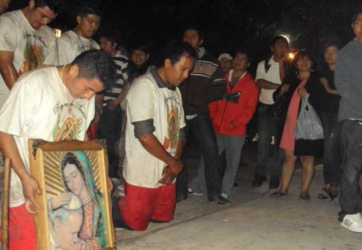Se inició la temporada de festejos a la Virgen de Guadalupe, lo que incluye a antorchistas y otras manifestaciones. (SIPSE)