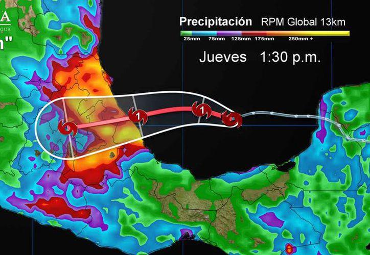 Se espera un cielo parcialmente cubierto con probabilidad de tormentas en Chetumal. (Conagua)