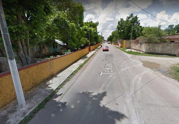 Los hechos se dieron el pasado 30 de agosto por la mañana en Tekax, en esta calle. (Google Maps)