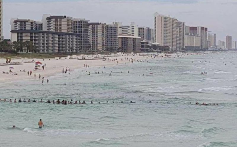 Cadena humana salvó a familia de morir ahogada en Florida