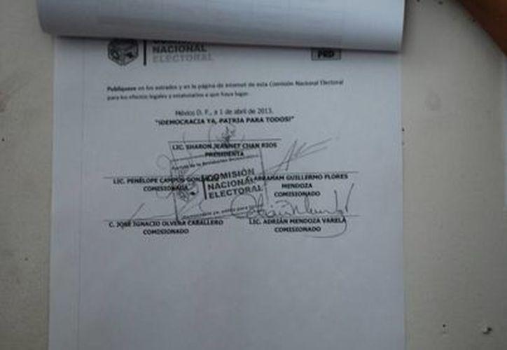 La publicación del acuerdo nacional de la Comisión Nacional Electoral (CNE) avala que nueve los diez registrados pueden iniciar campaña interna. (Redacción/SIPSE)