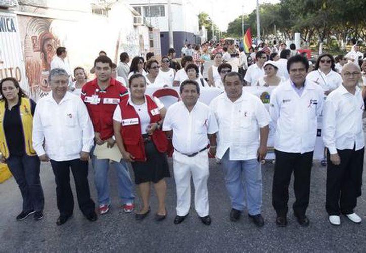 La Jurisdicción Sanitaria Número 2 y organizaciones de la sociedad civil efectuaron una marcha. (Cortesía/SIPSE)
