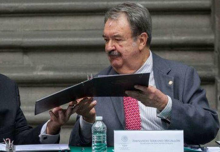 Fernando Serrano Migallón, subsecretario de Educación Superior de la SEP, dijo que se espera pronta solución a las demandas estudiantiles. (Milenio)
