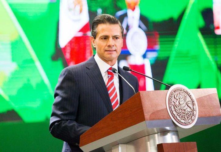 Peña Nieto dijo que la digitalización de las actas de nacimiento tiene un avance del 92 por ciento. (Presidencia)