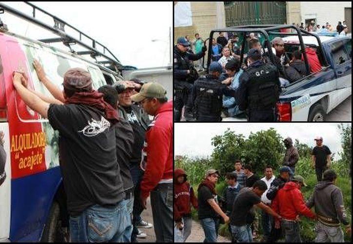Los detenidos fueron entregados a las autoridades. (Andrés Lobato/Milenio)