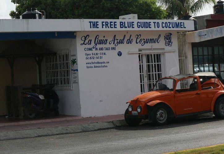 """La empresa afectada, The Blue Guide"""", sufrió lo que al parecer fue un robo por parte de la delincuencia. (Irving Canul/SIPSE)"""