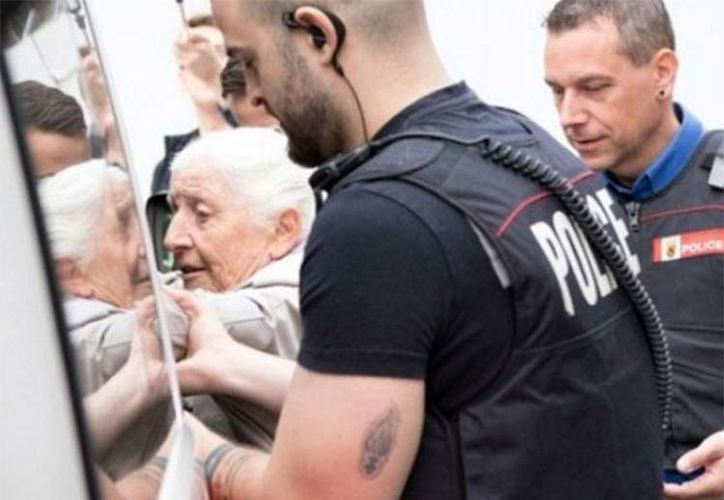 La mujer fue detenida brevemente. (Foto: Netzfrauen.com)