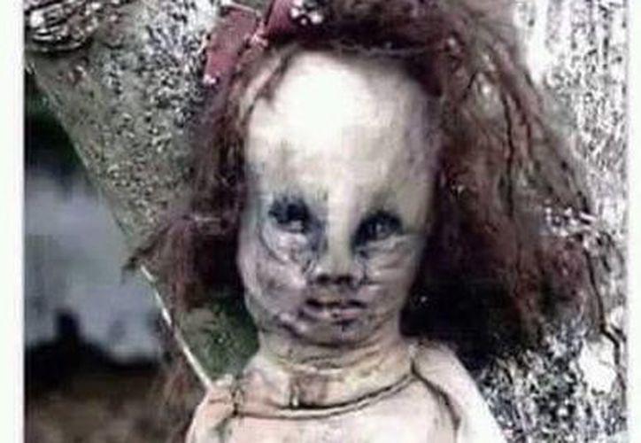 Muñeca hecha presuntamente con piel humana. La historia está circulando en las redes sociales. (Jorge Moreno/Milenio Novedades)