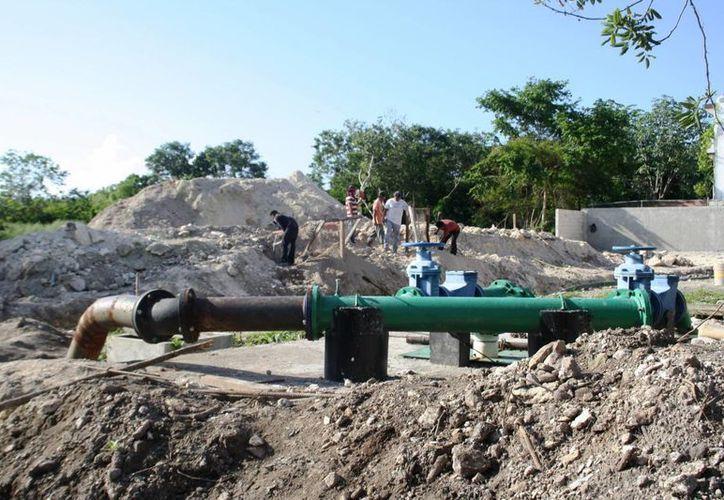 Autoridades de la CAPA estiman que el cárcamo Balam Tun estará terminado en diciembre de este año. (Octavio Martínez/SIPSE)