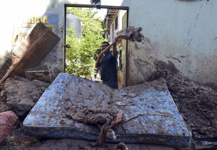 Manuel dejó severos daños en Chilpancingo, Guerrero. (Agencias)