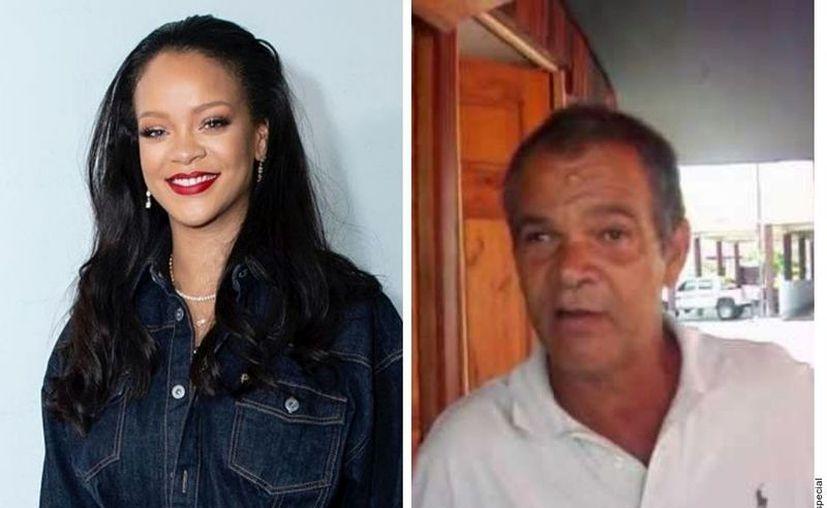 """El padre de Rihanna, Ronald Fenty (der.), alegó que ha usado el nombre """"Fenty"""" desde 2015, y que ella lo ocupó para su línea de maquillaje un año después de él. (Agencia Reforma)"""