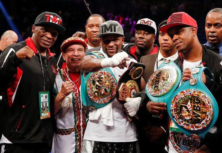 Pocos creen que la del sábado haya sido la última pelea de Floyd Mayweather Jr. (AP)