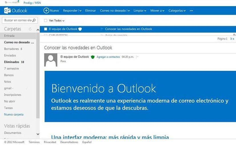 Concluye migración de cuentas de Hotmail a Outlook. (Internet)