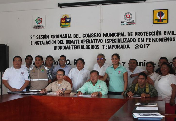 Fue instalado el Comité Operativo Especializado en Fenómenos Hidrometeorológicos en el Ayuntamiento. (Gloria Poot/SIPSE)