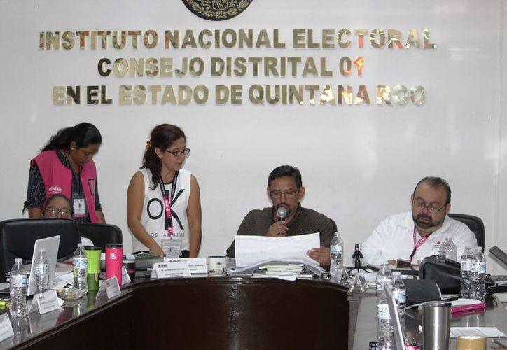 La Junta Distrital 01 dará a conocer el cómputo final de las boletas. (Octavio Martínez/SIPSE)