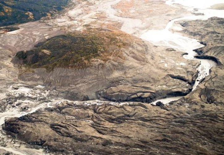 El fenómeno ocurrió luego del acelerado deshielo del glaciar Kaskawulsh. (Dan Shugar).
